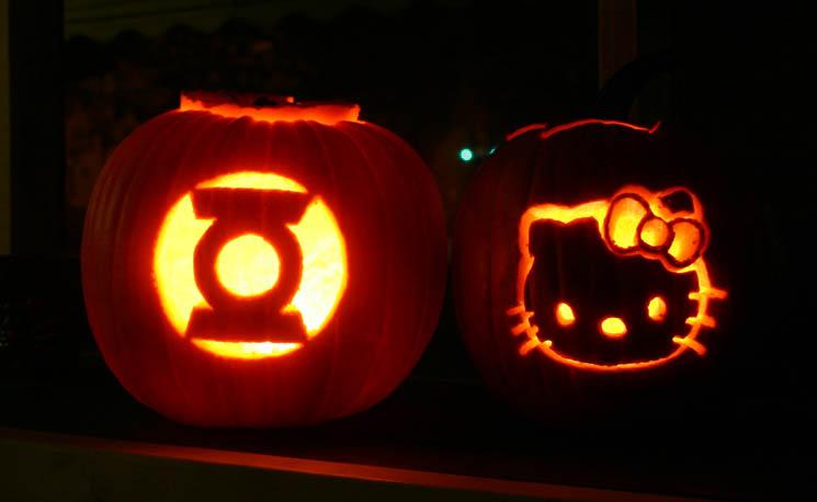pumpkin8 Hello Kitty Pumpkin Carving Pattern