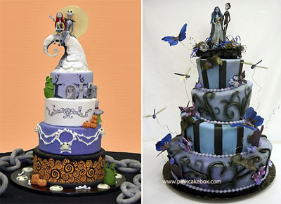 Christmas Wedding Cakes Pictures on Movie Wedding Cakes   Nightmare Before Christmas  And  Corpse Bride