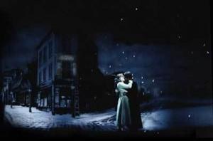 A snapshot from Baz Luhrman's production of La Boheme.