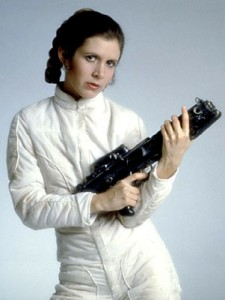 Leia, as played by Carrie Fisher