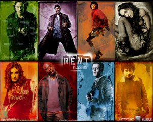 The main cast of the movie RENT.
