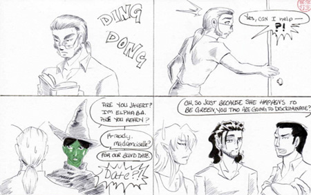 From one of my favorite pages in the comic! Just imagine Javert's reactions throughout it all!
