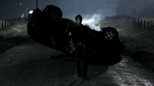 Stefan Saves Elena From Car Crash