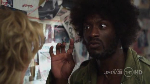 Hardison plays the conspiracy nut a little too convincingly
