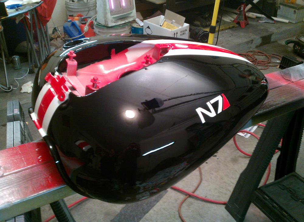 Fandomestic Mass Effect N7 Motorcycle Takes Back Earth