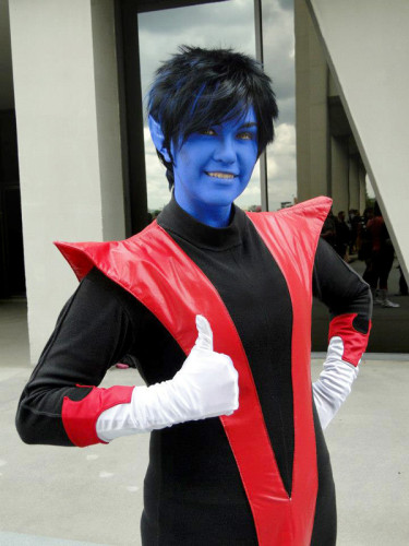 Kristen Collins as Nightcrawler, X-Men (Photo by Hector Colon)