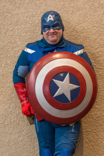Daniel Calhoun as Captain America