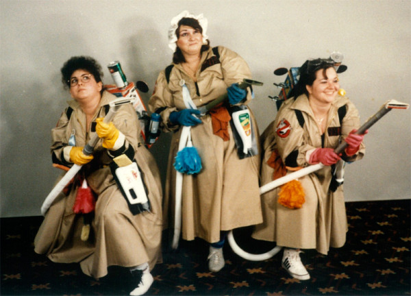 """Dustbusters"" at Loscon 1984. Photo by Dik Daniels."