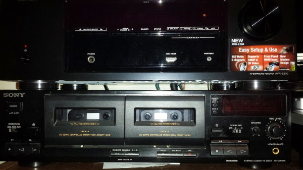 Yup, I still have my dual cassette deck!
