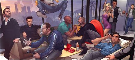 Fandomania » Fan Art Friday: Grand Theft Auto by Patrick Brown  Fandomania » F...