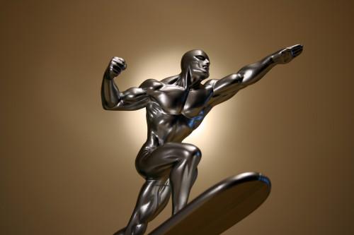 Bowen Designs Silver Surfer Galactus Scale Statue 008
