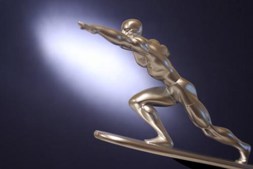 Bowen Designs Silver Surfer Galactus Scale Statue 009