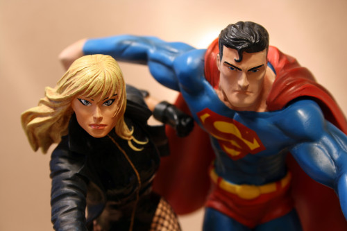 JLA Build A Scene Statue 2 Superman and Black Canary 009