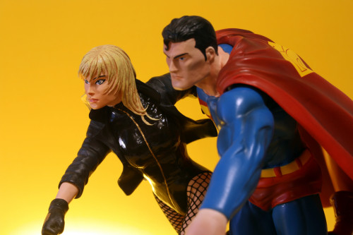 JLA Build A Scene Statue 2 Superman and Black Canary 015