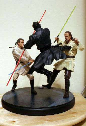 Star Wars Duel of the Fates Diorama Statue 003