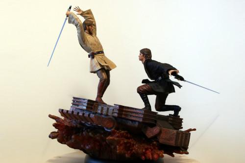 Star Wars Obi-Wan Kenobi Vs Anakin Skywalker Diorama 002