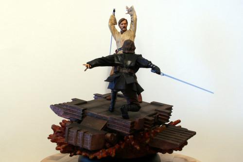 Star Wars Obi-Wan Kenobi Vs Anakin Skywalker Diorama 003