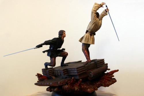 Star Wars Obi-Wan Kenobi Vs Anakin Skywalker Diorama 004