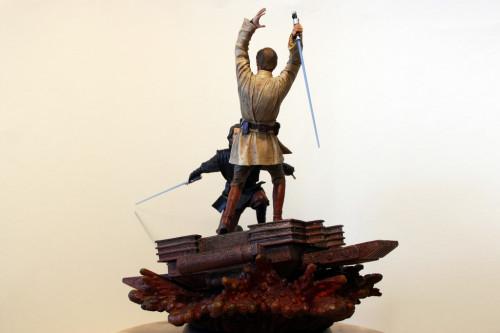 Star Wars Obi-Wan Kenobi Vs Anakin Skywalker Diorama 005