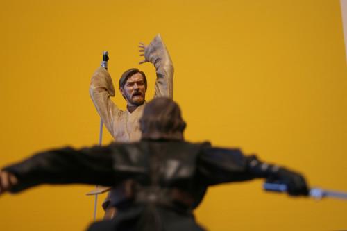 Star Wars Obi-Wan Kenobi Vs Anakin Skywalker Diorama 009