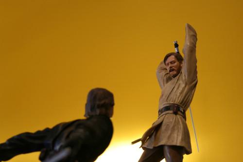 Star Wars Obi-Wan Kenobi Vs Anakin Skywalker Diorama 013