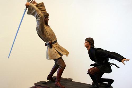 Star Wars Obi-Wan Kenobi Vs Anakin Skywalker Diorama 024